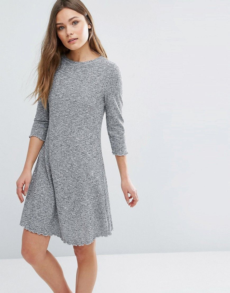 f21795086a NEW LOOK KNITTED SWING DRESS - GRAY. #newlook #cloth # | New Look ...