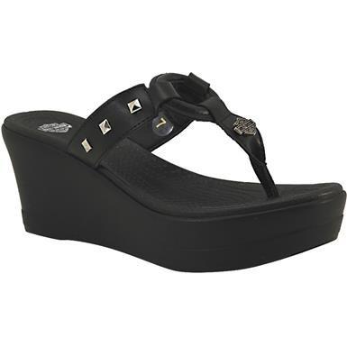 2c5a6f837abefb Harley Davidson Viktoria Sandals - Womens Black Rogan s Shoes