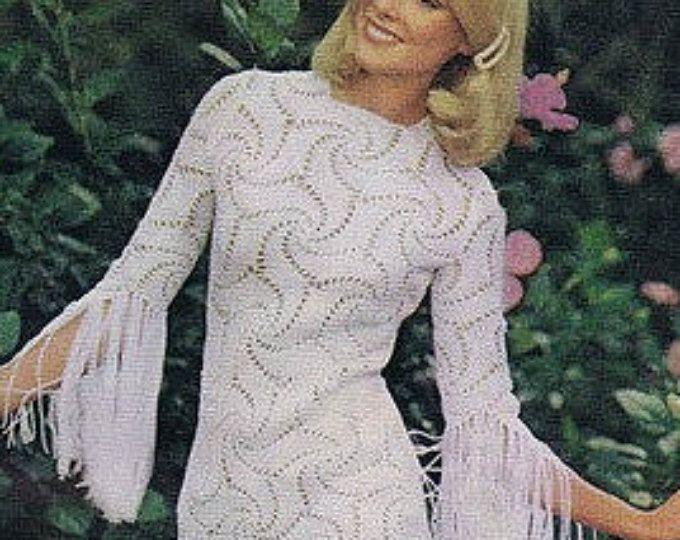 Patron de tejido crochet - patron pdf de tejido vestido de novia en ...