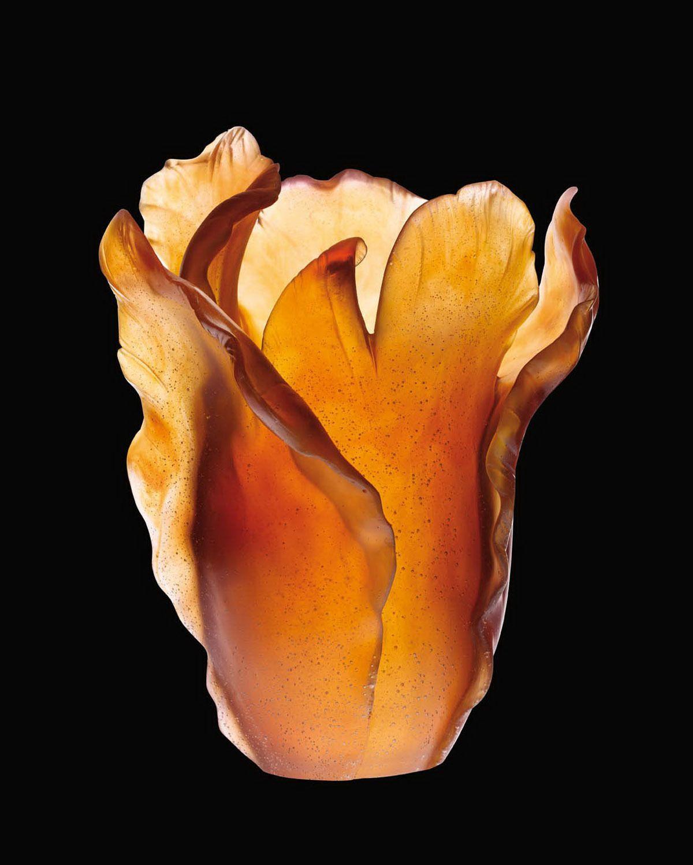 Gojee - Amber Tulip Vase by Daum