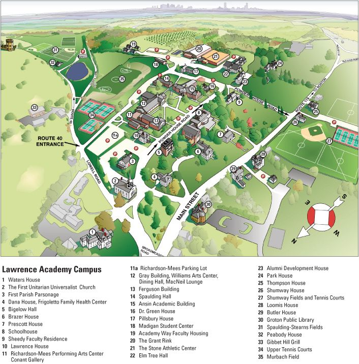 simmons college campus map. lawrence academy campus map simmons college