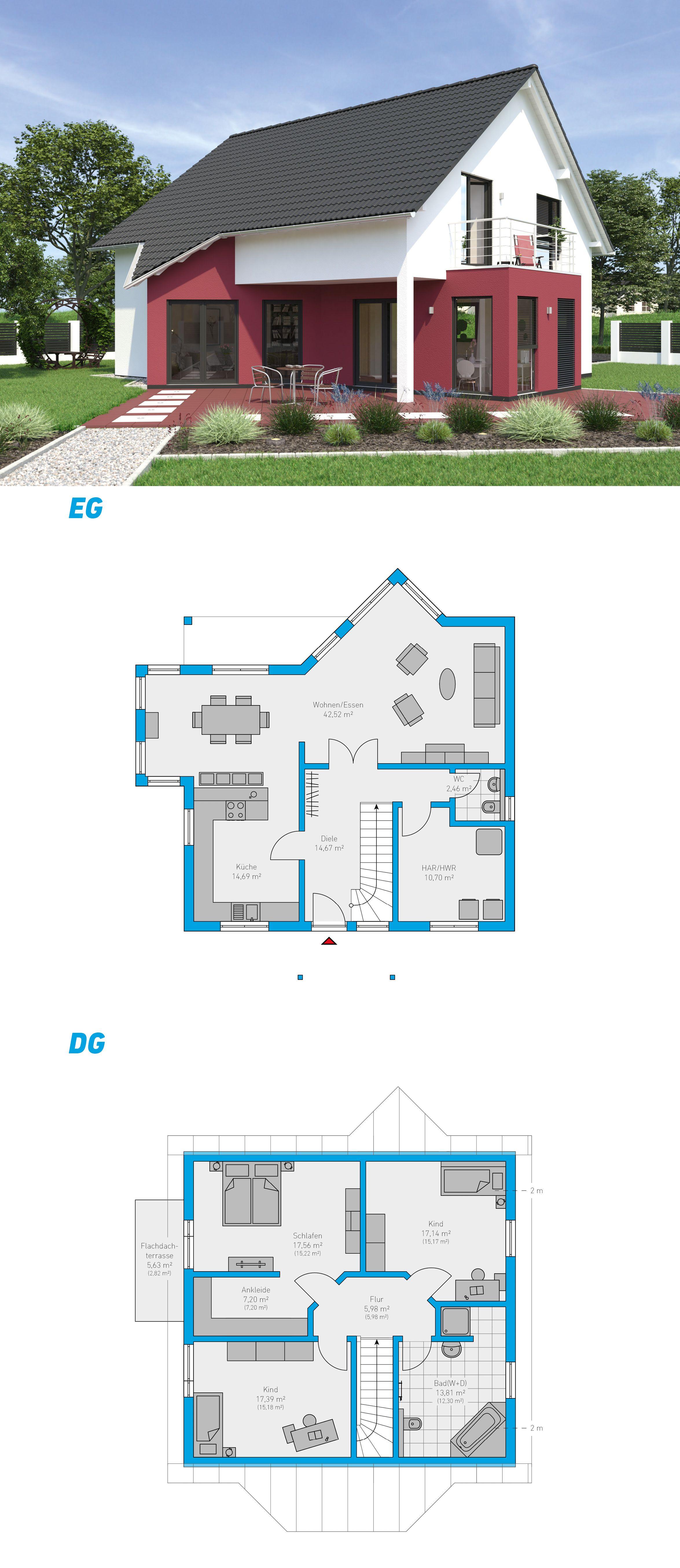 linea 170 schl sselfertiges massivhaus 1 5 geschossig spektralhaus ingutenw nden 1. Black Bedroom Furniture Sets. Home Design Ideas