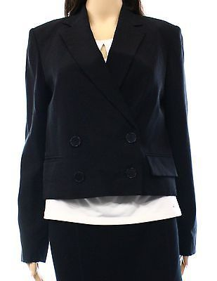 Theory NEW Black Women's Size 6 Notch-Collar Cropped Blazer $535 #244 DEAL