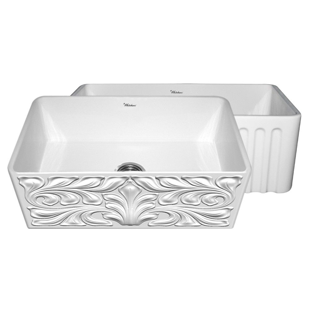 Whitehaus Reversible Series 30 Inch Fireclay Farmhouse Sink