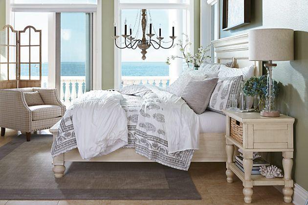 White Marsilona King Panel Bed View 3