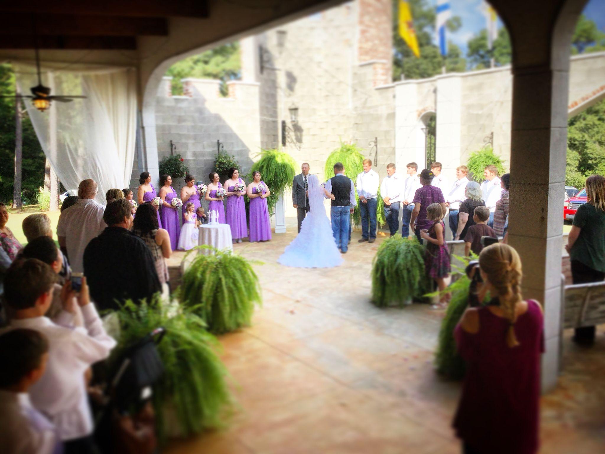 patio ceremony pierce castle in decatur mississippi