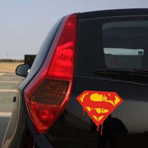 Blood Superman sticker Removable Waterproof Car decor