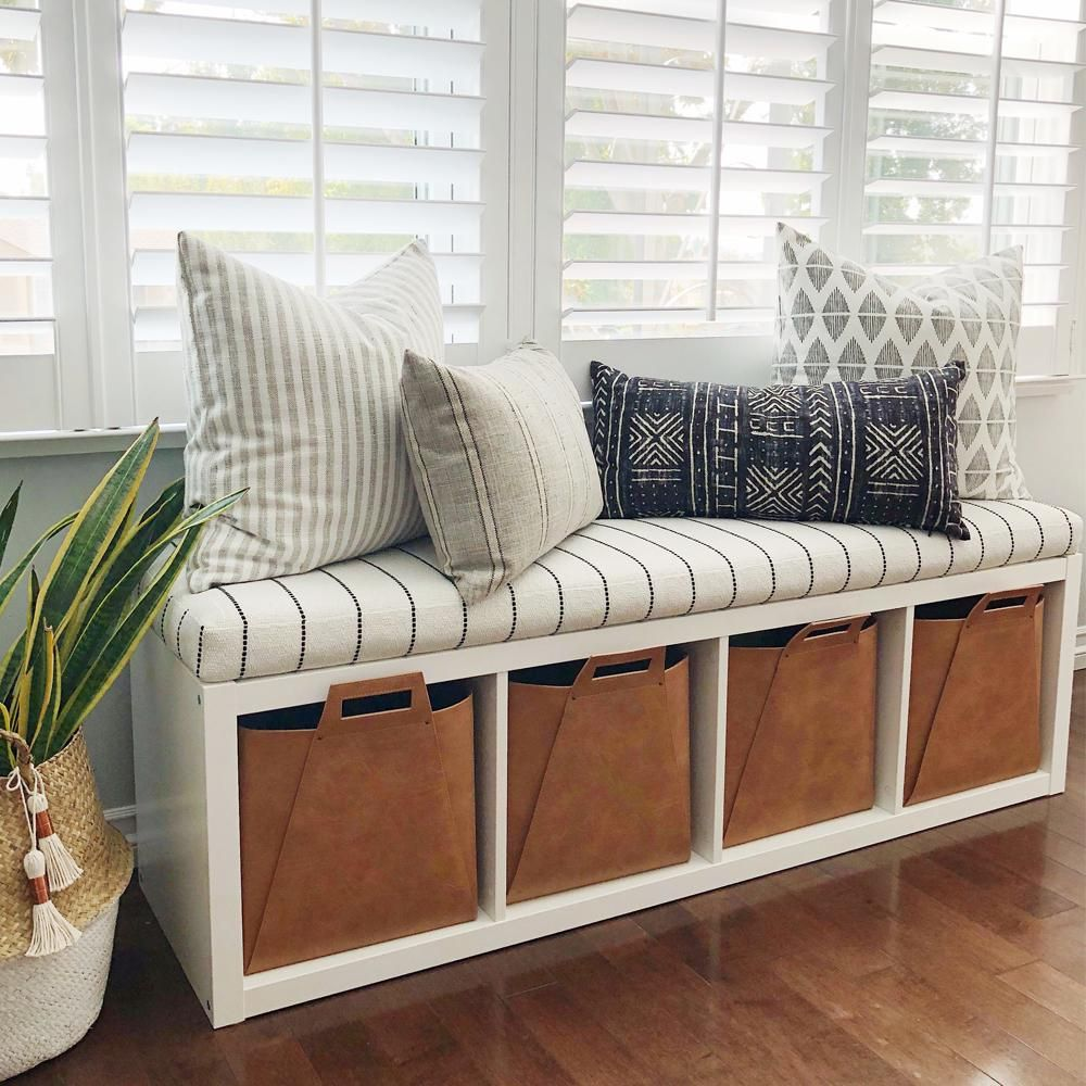 Foam Bench Cushion Ikea Hack Kallax Shelf Tonic