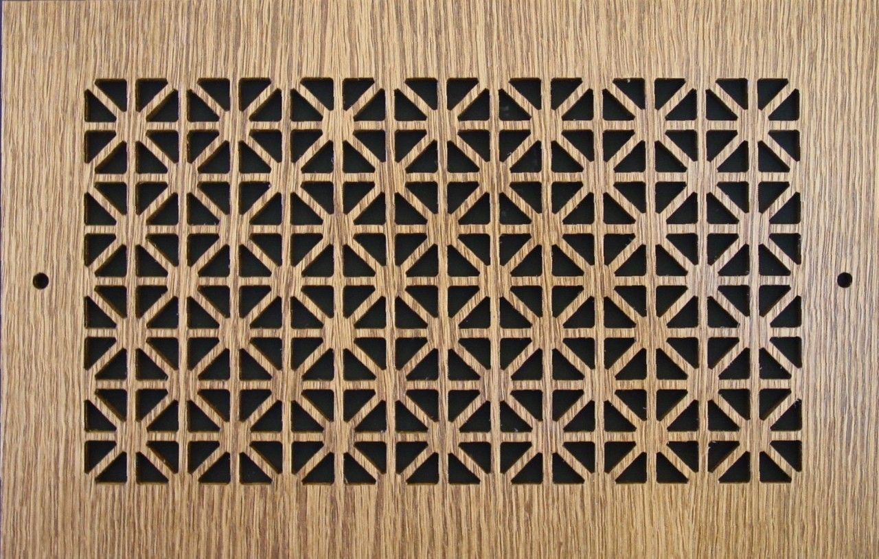 Wood Wall and Ceiling Vent Covers Pattern B Ceiling