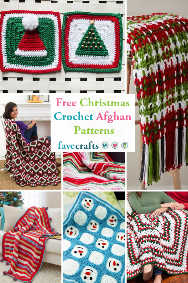 25 Free Christmas Crochet Afghan Patterns Christmas Crochet Christmas Crochet Patterns Afghan Crochet Patterns