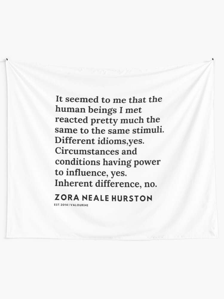 '78 |Zora Neale Hurston Quotes |  200629 | Black Writers | Motivational Quotes For Life|' Tapestry by valourine
