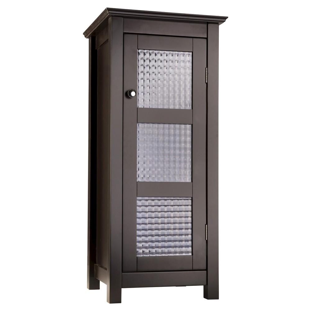 Chesterfield 1 Door Floor Cabinet Dark Espresso Elegant Home Fashions Glass Cabinet Doors House Styles Elegant Homes