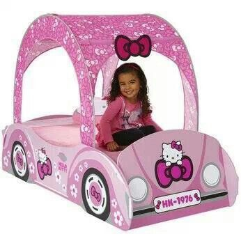 hello kitty feature toddler bed my grand daughter would love this