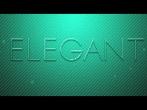 Simply Elegant Text Effect | Photoshop CS6 Tutorial