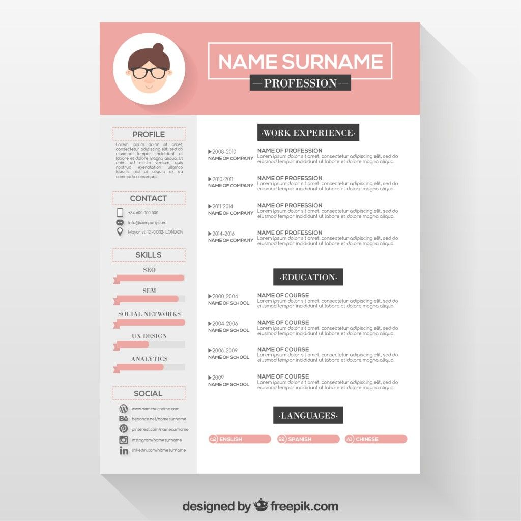 Editable cv format download PSD file | Free Download | majo ...