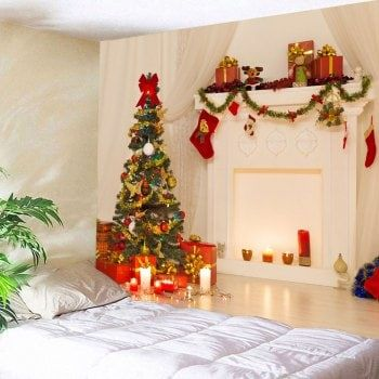 3D Christmas Printed Waterproof Wall Decor Tapestry Picture Ideas