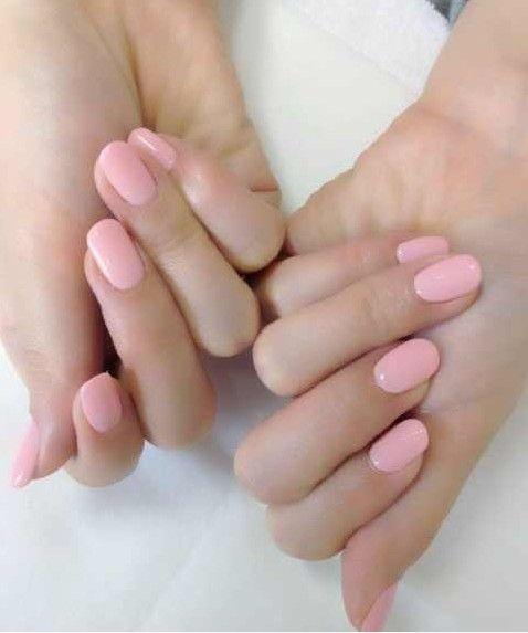 Blush/Lt Pink nails