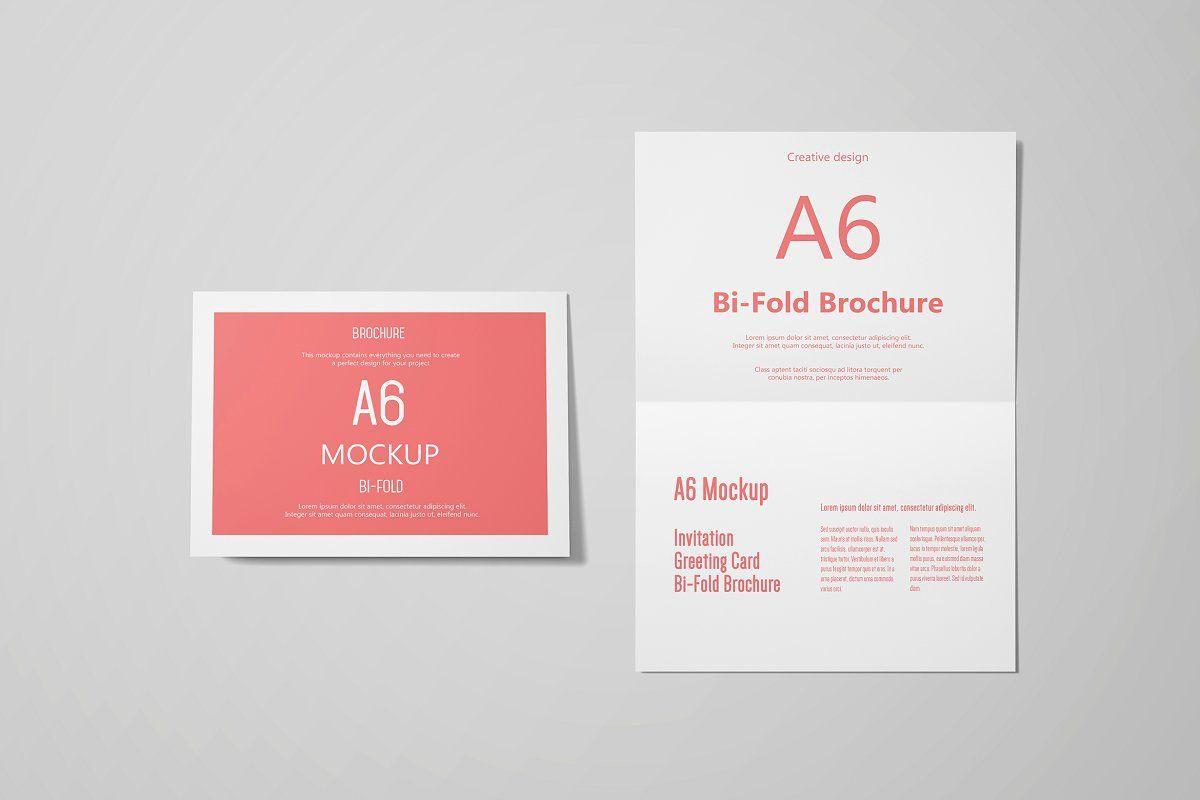 A6 Landscape Greeting Card Mockup Invitation Mockup Greeting Card Template Business Card Template