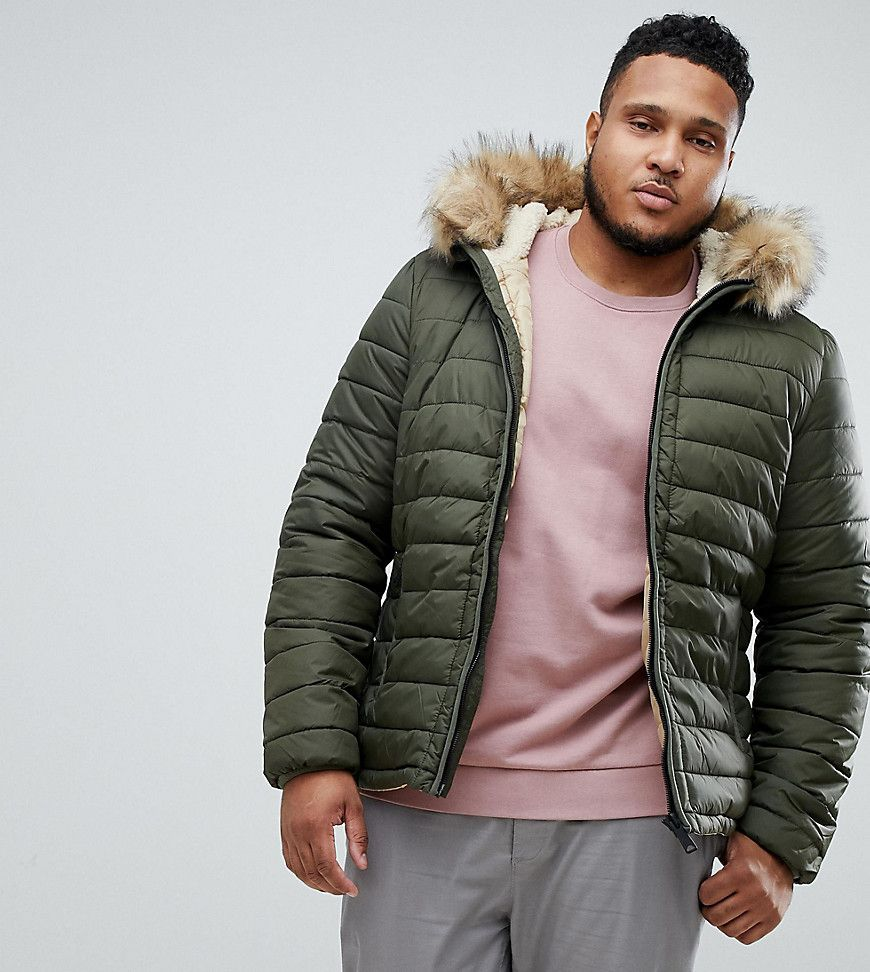 ef45906b2 SCHOTT ROCKY 2 HOODED PUFFER BOMBER WITH DETACHABLE FAUX FUR TRIM IN ...