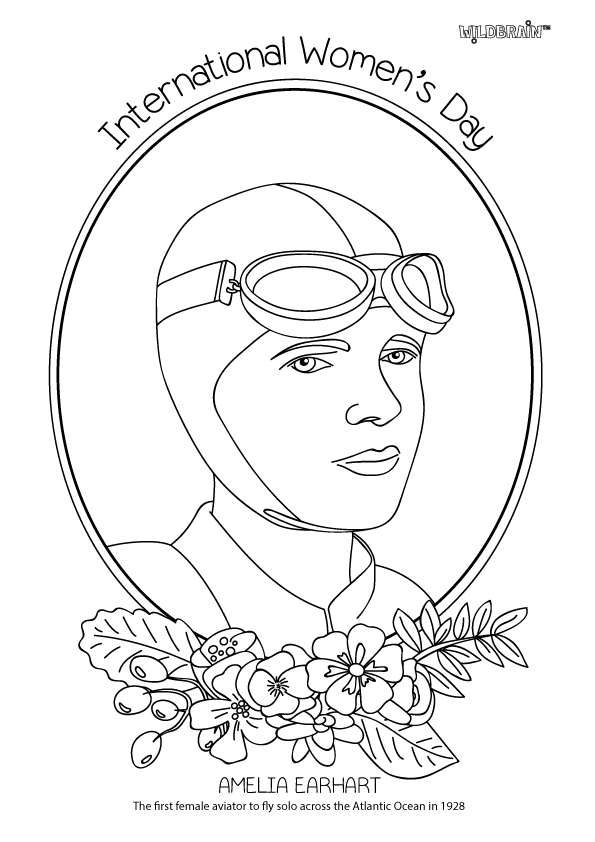 Inspired By The Fab Alphamom We Ve Made A Set Of Colouring Sheets Honouring Amazing Women For International Coloring Pages Bee Coloring Pages Amelia Earhart