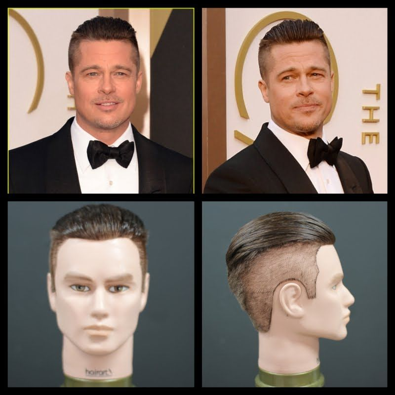 Brad Pitt New 2014 Oscars Inspired Haircut Tutorial Thesalonguy