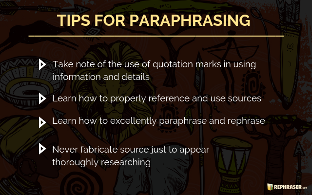 Rephrasing South Africa Useful Tip Plagiarism Checker Best Use Of Quotation Marks Are Mark Necessary On Paraphrases