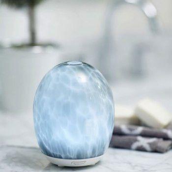 Glass Ultrasonic Diffuser Grey Marblemist Ultrasonic Diffuser Ultrasonic Oil Diffuser Essential Oil Diffuser