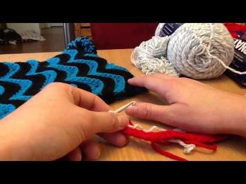 Miss Knittles Free Zig Zag Crochet Hat Pattern - YouTube | crochet ...