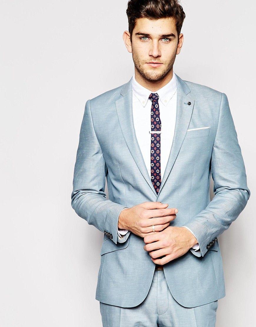River Island Pale Blue Suit in Slim Fit | Suit Style | Pinterest ...