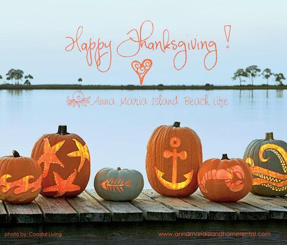 Thanksgiving Beach Style Halloween Pumpkins Carvings Pumpkin