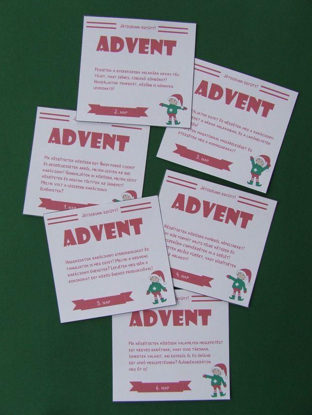 naptár shop Ötletek a közös időtöltéshez az adventi estékre   üres kártyákkal  naptár shop