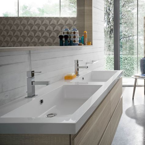 Mobile bagno con doppio lavabo N18 - Atlantic - ARREDACLICK | Megghy ...