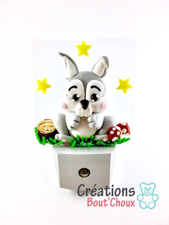 Veilleuse à DEL lapin décoration chambre enfant veilleuse