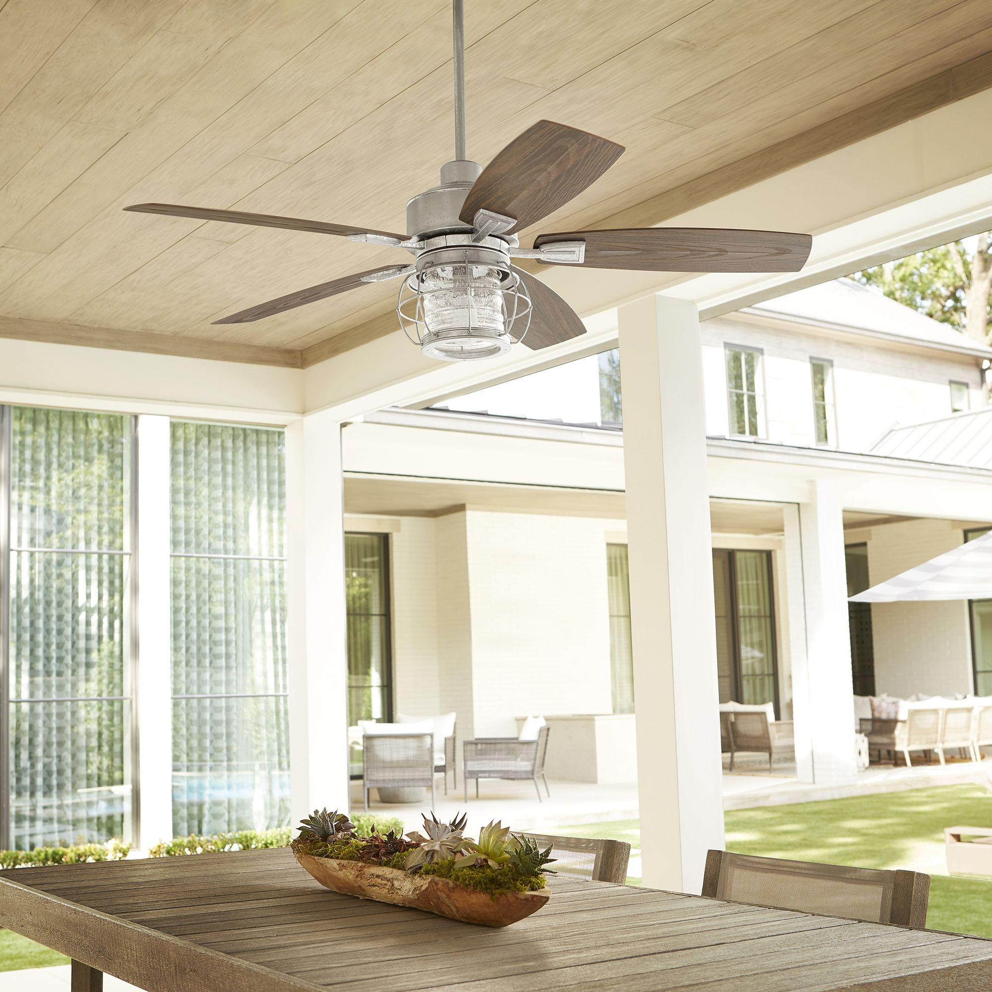Quorum Galveston 52 Outdoor Ceiling Fan In Galvanized Ceiling Fan Outdoor Ceiling Fans Patio Fan