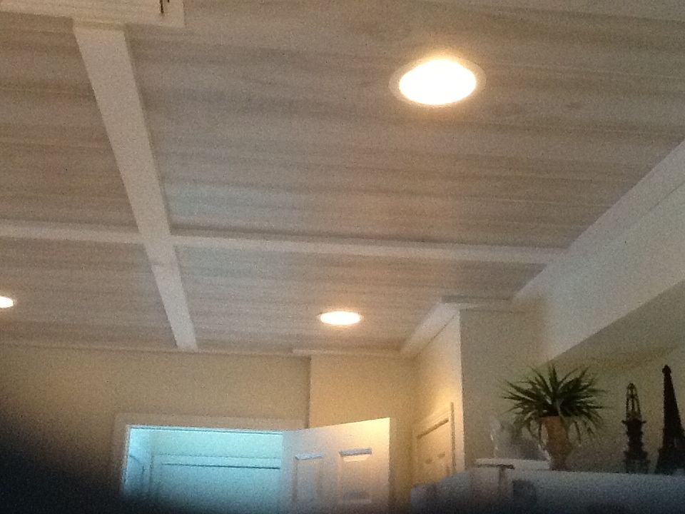 Perfect Solution For Popcorn Ceilings Inexpensive Wood Panelling From Lowes Color Is Coas Basement Ceiling Ideas Cheap Low Ceiling Basement Ceiling Options