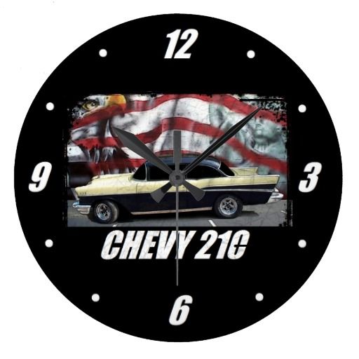 1957 Chevy 210 Large Clock Large Clock Clock Wall Clock