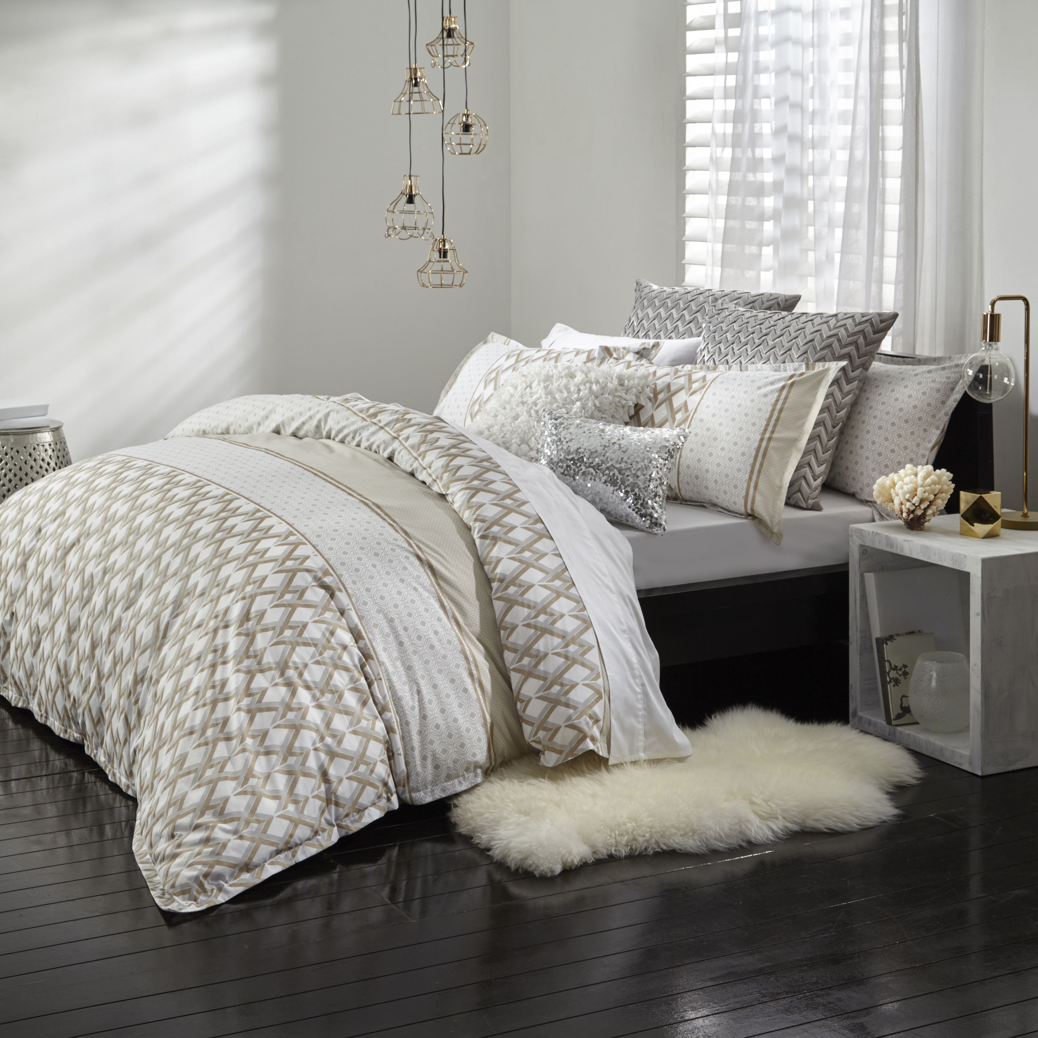 quilt cover estella gold by logan u0026 mason available in single double queen and king double bed sizedouble bedsgold