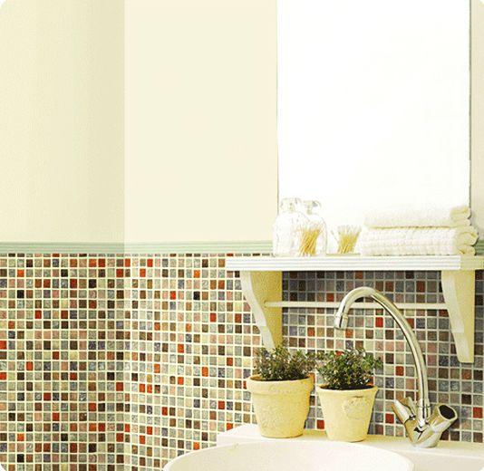 Fliesen Deko Selbstklebend Bad : tapete selbstklebend dekofolie mosaik fliesen bunt bad deko fliesen 6 99 1m nur 6 99 ~ Markanthonyermac.com Haus und Dekorationen