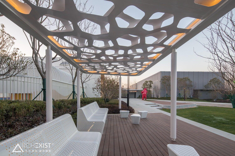 Vanke Hefei China Community Orientated Landscape Social Infrastructure By Stephen Buckle Of Aspect Studios如何让社区空间重回 温度 皖投万科天 Pavillion Architecture Hefei