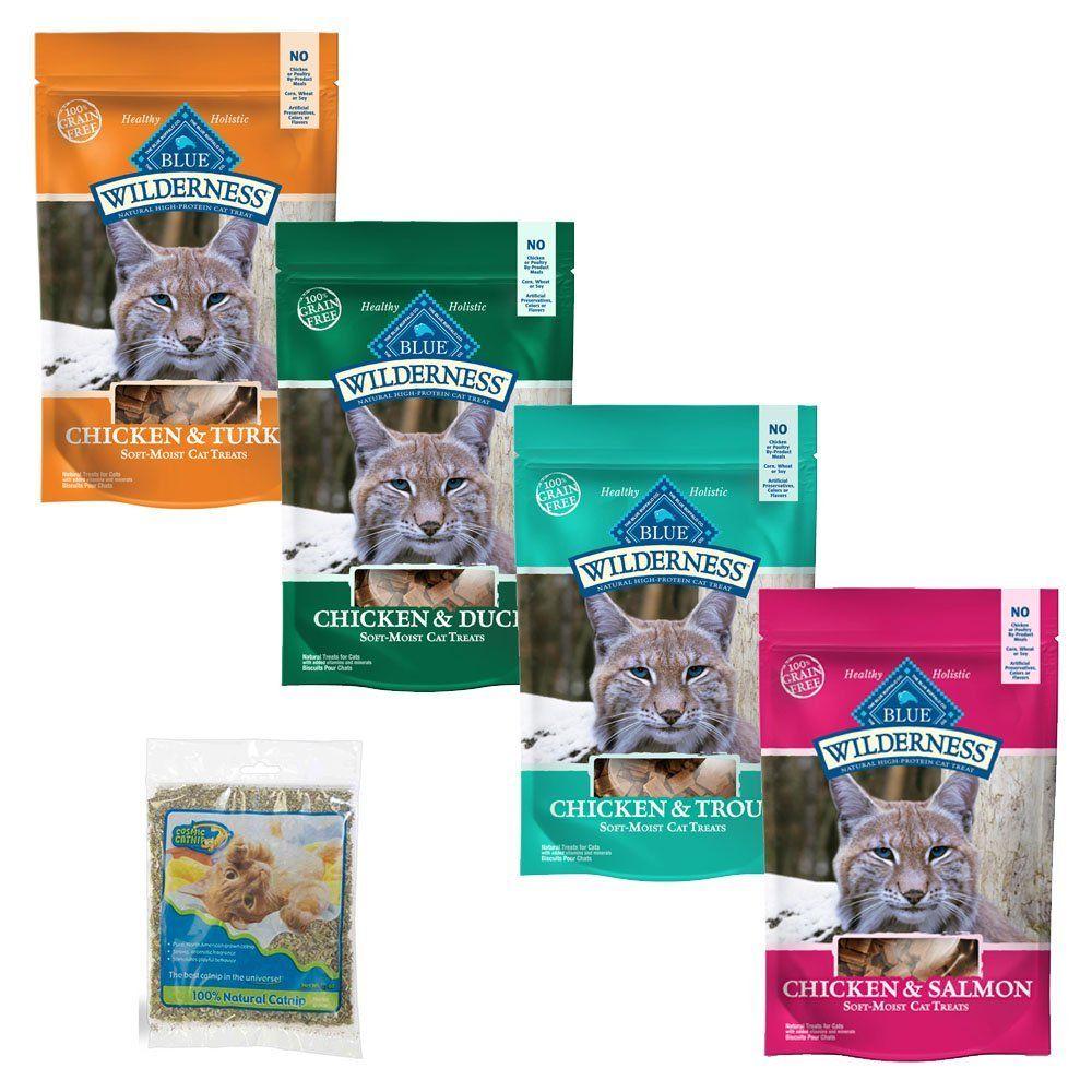 Blue buffalo wilderness grainfree cat treats variety pack