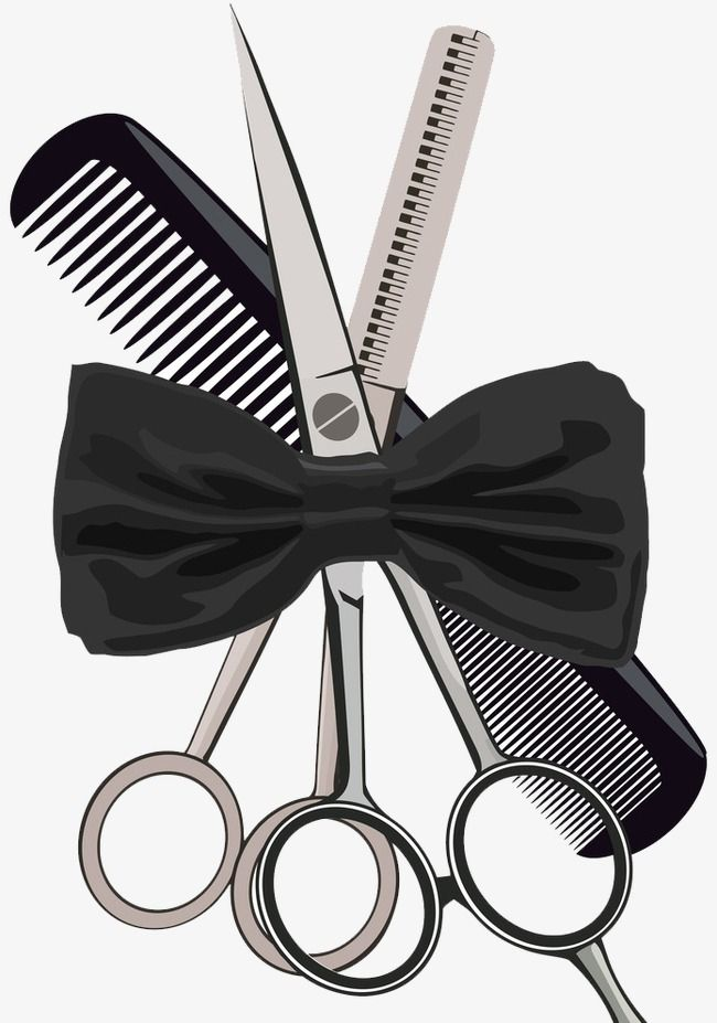 Scissors And Comb Clipart : scissors, clipart, Penha, Stylist, Logo,, Salon, Design,
