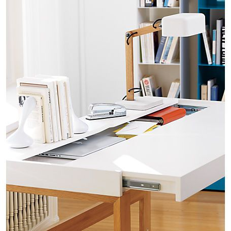 Hidden Storage Brilliant Torino Desk Table In Office Furniture Cb2