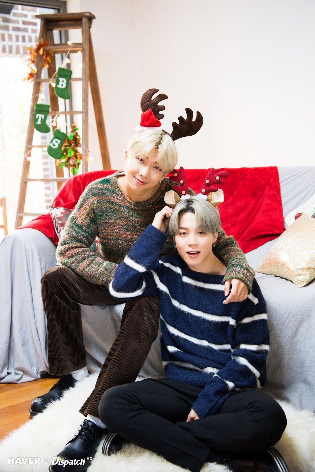 Naver X Dispatch Bts Christmas Special 2019 Photoshoot Circuits Of Fever In 2020 Bts Christmas Christmas Special Bts
