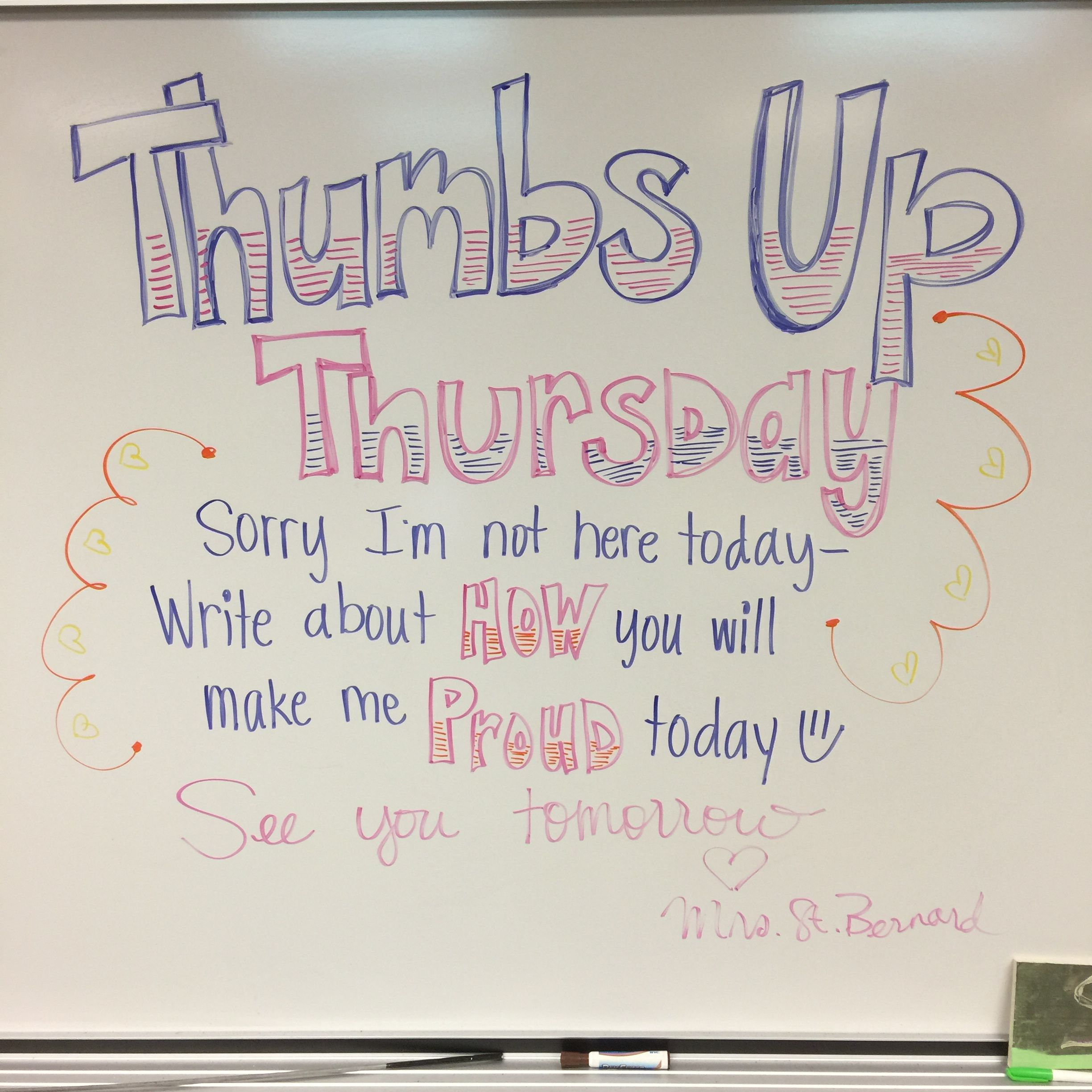 Thumbs Up Thursday