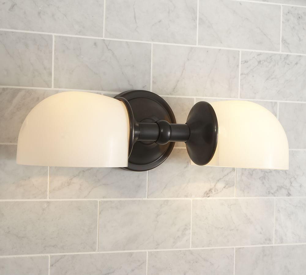 Mercer Double Horizontal Sconce Bathroom Sconces