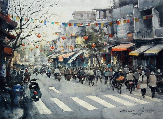Winter at Hanoi No.3 by Direk Kingnok