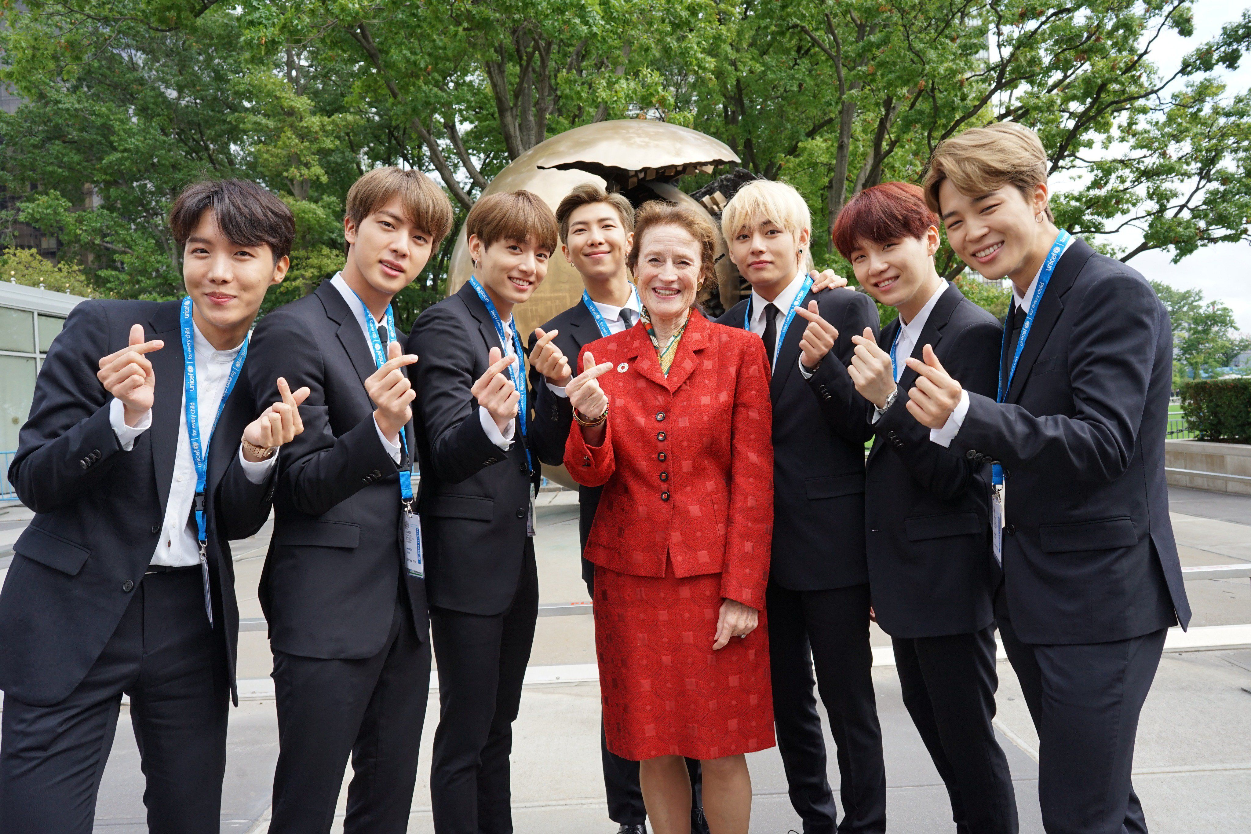 180924 • BTS at the United Nations to Launch #GenUnlimited Youth ...