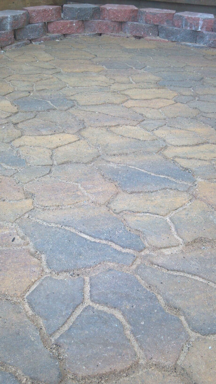 Siena Flagstone Pavers From Menards Very Easy To Install Be Sure To Use Locking Sand And Gst Sealer Flagstone Pavers Landscape Projects Yard Remodel