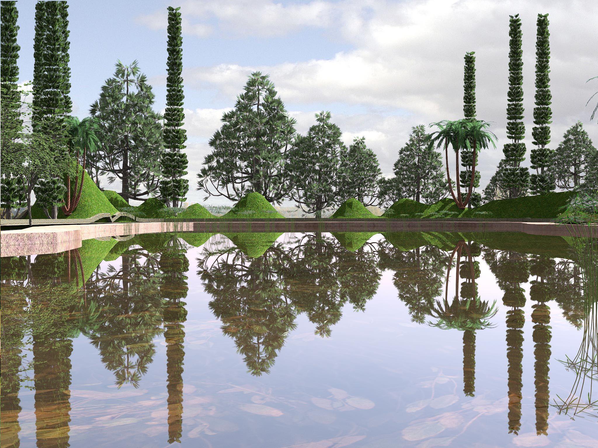 Parque del canal | Tecnicas de Representacion en Paisajismo y ...