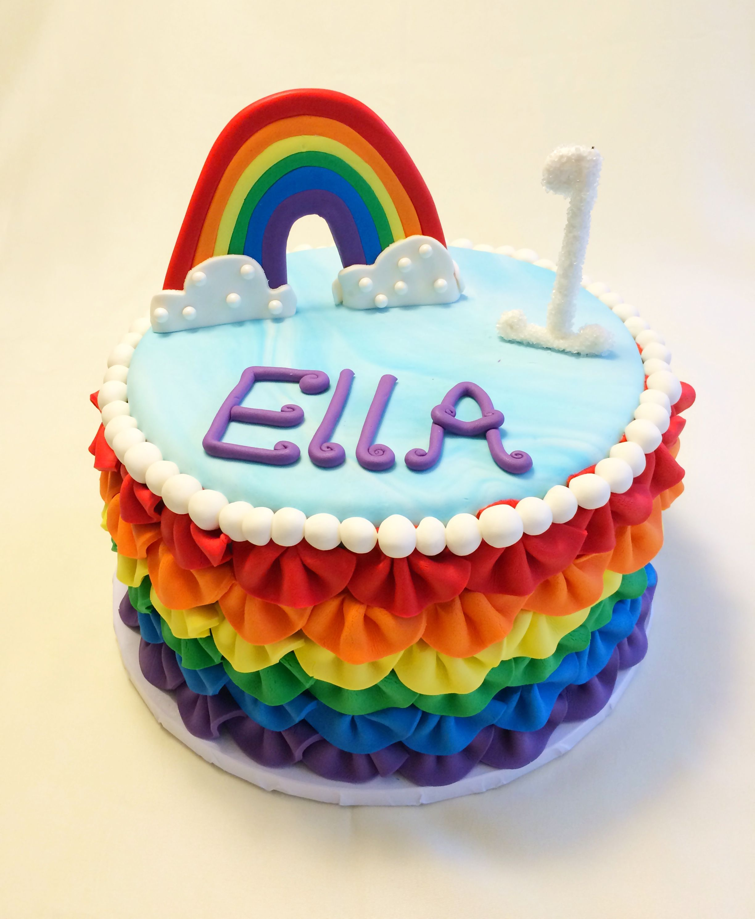 Rainbow first birthday cake httpinstagramcompvuVAoRSX2omodal